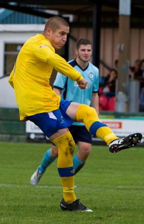 Scott Metcalfe bagged a hat-trick on Saturday. Picture JOHN HOPKINS