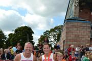 The Crowson family on completion of the LiveWire Mile, from left to right Darren, Charlotte, Juliet and Oliver Crowson