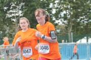 Denise Zachariasz ran the half marathon and then completed the mile with daughter Katie