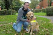 Edward Green and his guide dog Macca