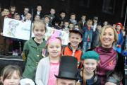 Children, staff and former pupils came together to celebrate Oakwood Avenue Primary School's 100th birthday