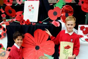 Penketh pupils proudly display poppy art work