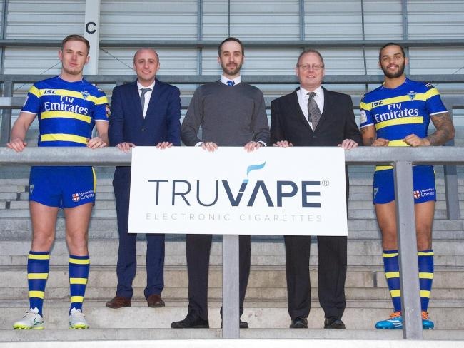 Vaping has been banned at the Halliwell Jones Stadium after Warrington Wolves' sponsorship with e-cigarette manufacturer Truvape was ended.
