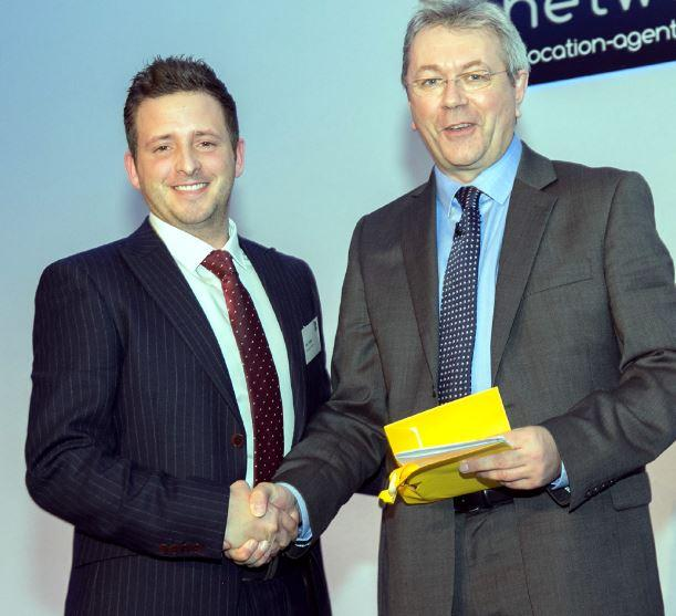 From left, award winner Lee Tickle and TM training and development's Peter Chapman