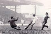Roger Hunt playing for boyhood favourites Bolton Wanderers at Burnden Park