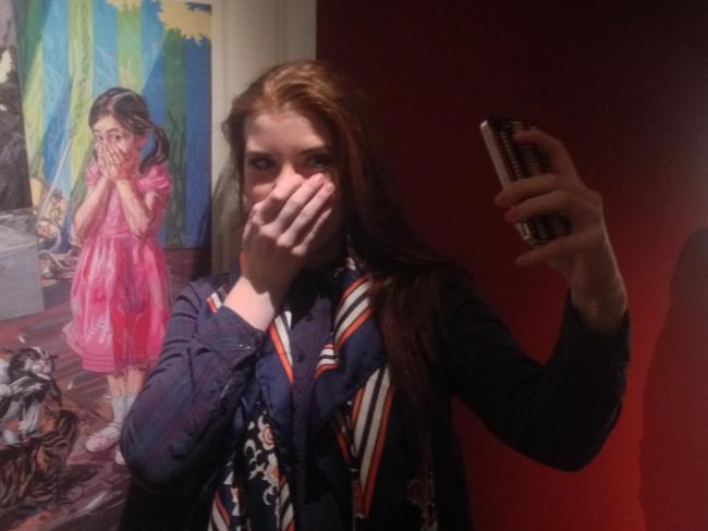 Amy Jackson, aged 17, from Lowton takes her #MuseumSelfie at Warrington Museum