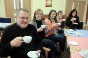 The Rev Michael Ridley was pleased with the opening coffee morning MBA190115