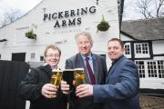 From left are John Auld, of Punch Taverns, David Mowat MP and James Waddington, of Inglenook Inns and Taverns