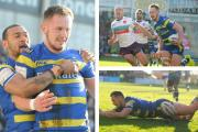 Ben Currie's match-winning try. Piictures by Mike Boden