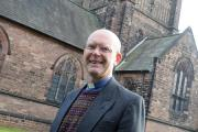 The Rev John Harries outside St John's Church MBA300315