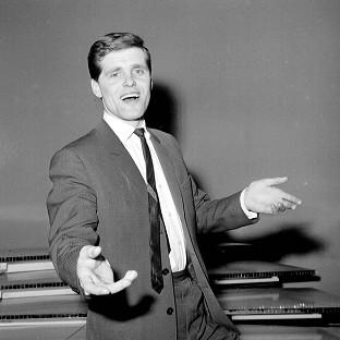 Pop star Ronnie Carroll when he was chosen to represent Britain in the 1963 Eurovision Song Contest