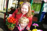 Scarlett (back), aged eight, and Emily Johnson, aged two, enjoying the day