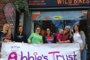Members of the Wild Bettys team with Abbie