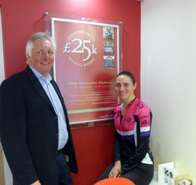 John Halman, managing director of Gascoigne Halman, with fellow judge and cycling and swimming star Dame Sarah Storey