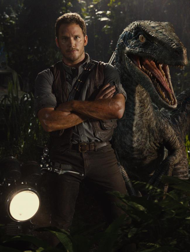 Chris Pratt stars in Jurassic World.Picture courtesy of PA Photo/Universal