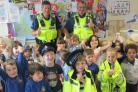 Youngsters at St Monica's Catholic Primary School after the Stranger Danger talk