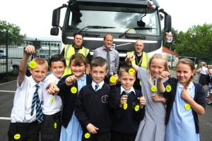 Truck drivers deliver road safety talk