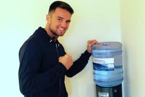 Two boxers partner up with water cooler firm