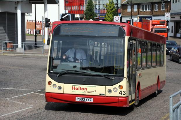 Warrington Guardian: Halton Transport buses operate services across Runcorn and Widnes MBB250815