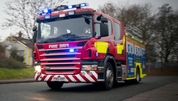 Crews tackle garden fire in early hours today