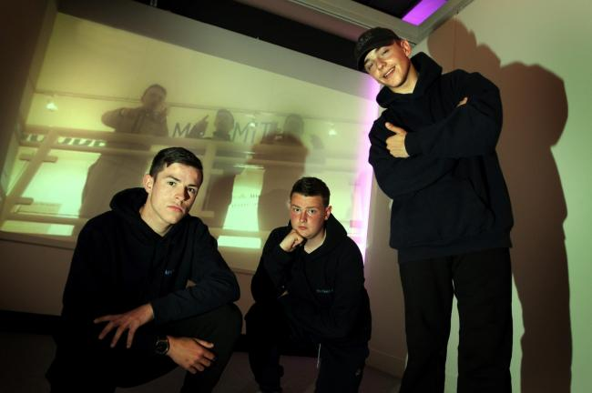 Bradley Molyneux, Liam Bolland and Declan Cudlip at the Lit Hop launchDG170516