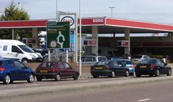 PANIC: Motorists have been queuing for fuel at garages throughout Wirral