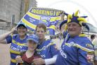 PHOTO GALLERY, WEMBLEY: Wolves fans dressed to impress in primrose and blue for the Challenge Cup Final