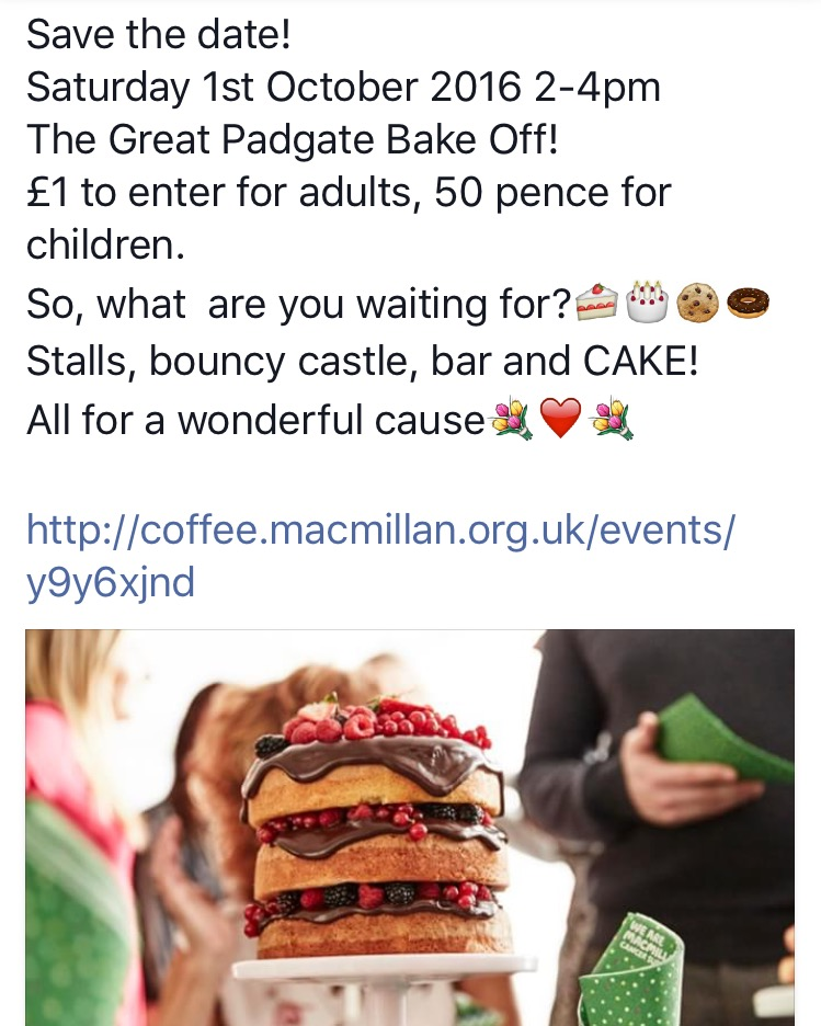 The Great Padgate Bake Off