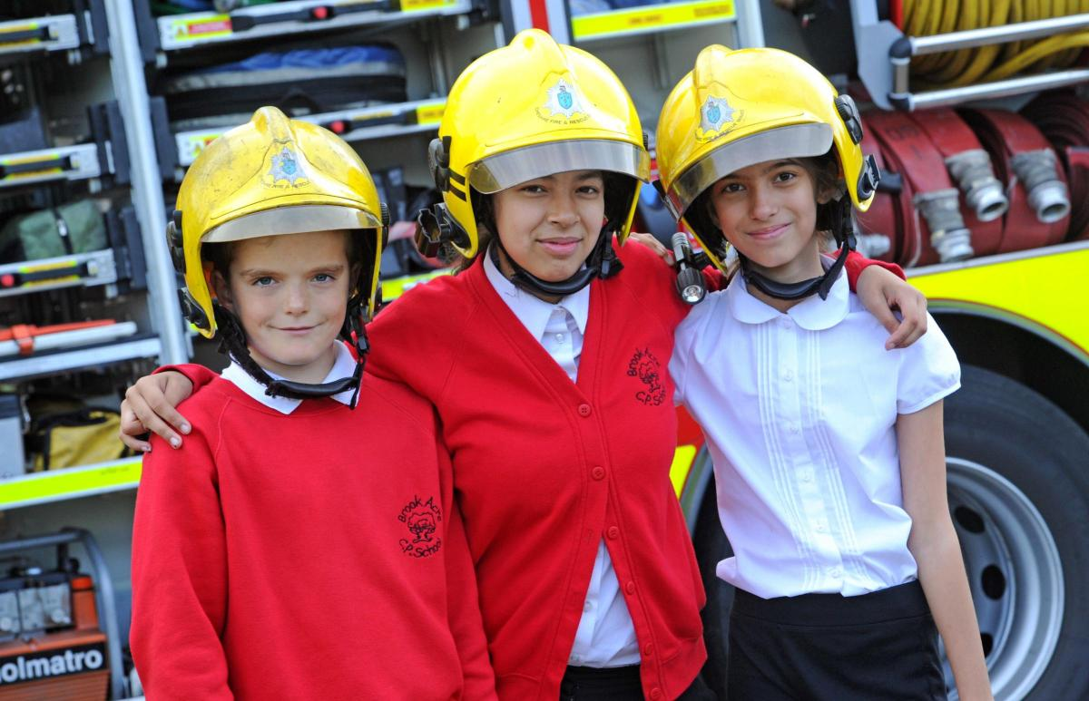 in pictures kids become firefighters police officers and vets