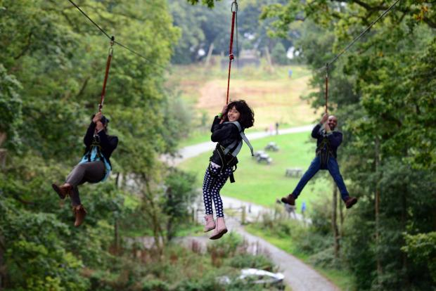 Warrington Guardian: The zip wire at Brockhole on Windermere