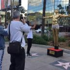 Warrington Guardian: Gold statue of Kanye West as Jesus unveiled by British artist in Hollywood