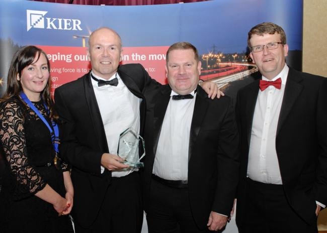 From left, Hayley Palmer, Stephen Hunter, Dave Drury and David Boyer at the awards ceremony at the Park Royal Hotel in Stretton
