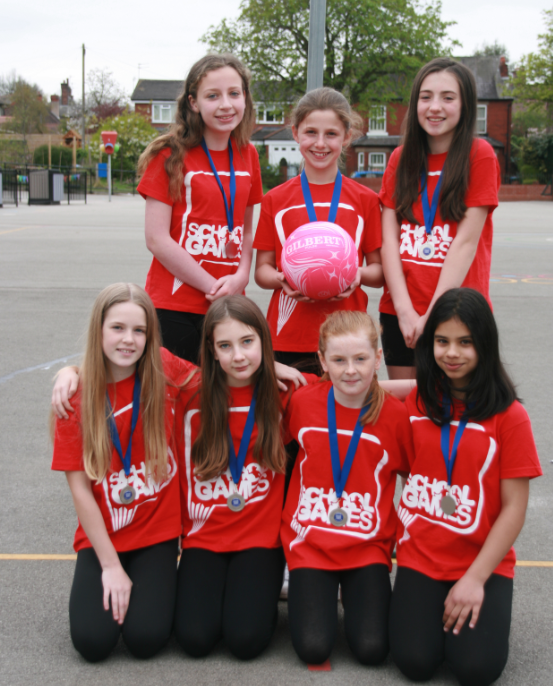 The school's year six netball team finished in second place