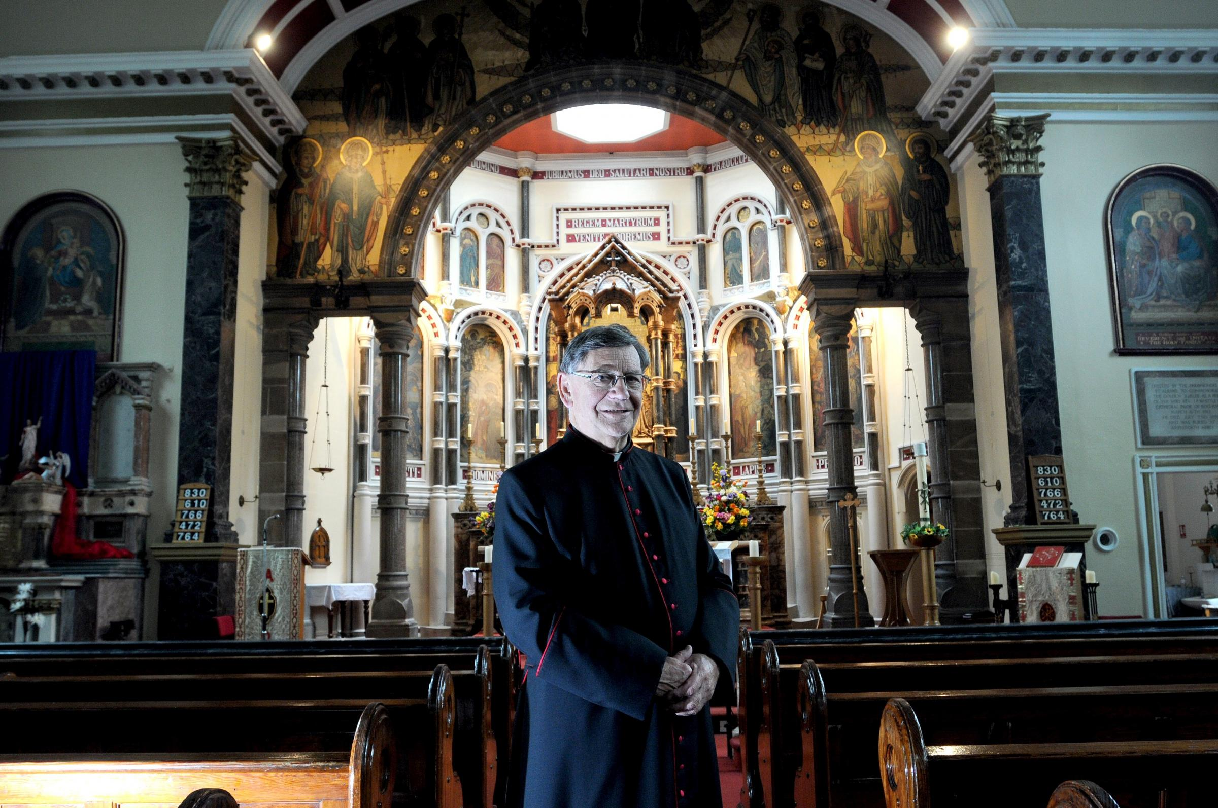 Canon Christopher Cunningham, parish priest at St Alban's and Sacred Heart, is set to celebrate his golden jubilee.
