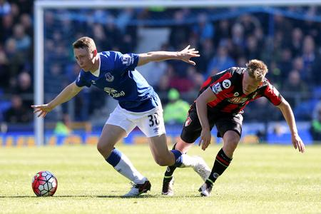 Former St Gregory's Catholic High School pupil Matthew Pennington in action for Everton against Bournemouth.