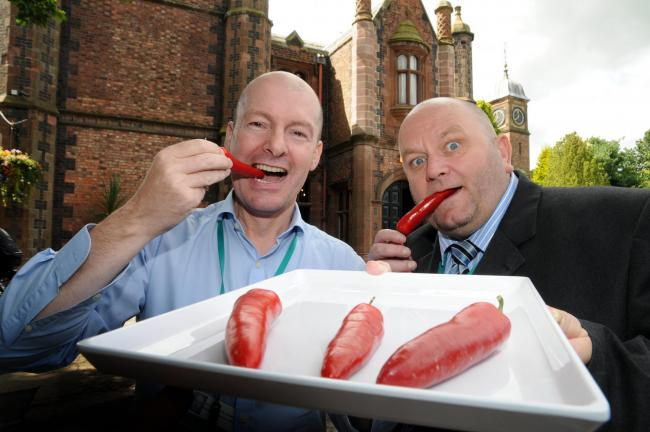 Cllr Tony Higgins and Sean Kelly, operations manager at Walton Hall