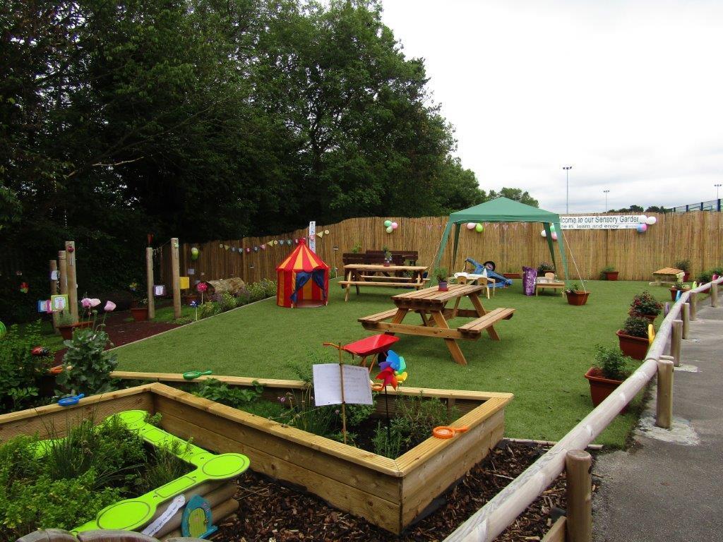 sensory garden with mud pie kitchen now open - Sensory Garden