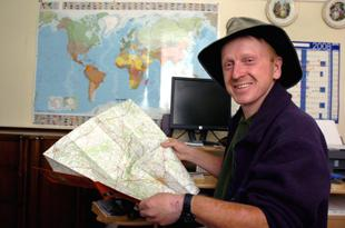 Andrew Wright maps out his next adventure