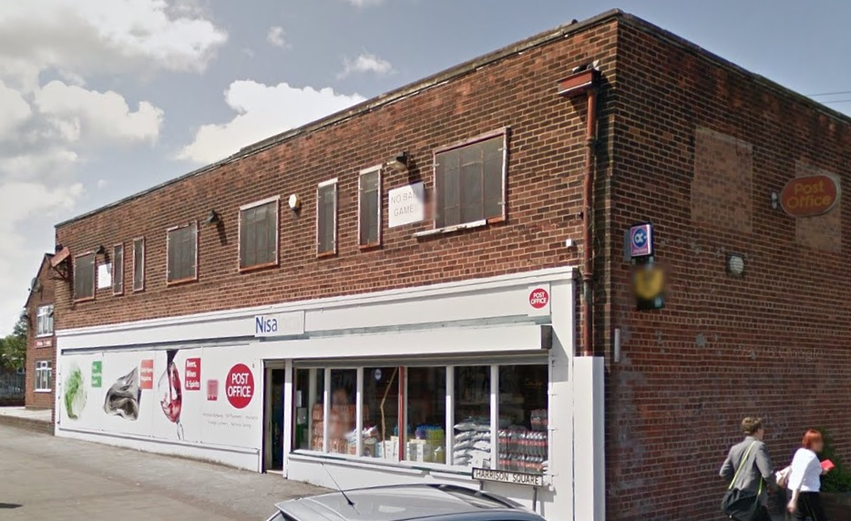 The Post Office branch on Harrison Square is set to close and move to Longshaw Street. Picture by Google Maps.