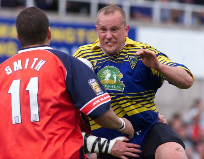 Gary Chambers in action for Warrington Wolves
