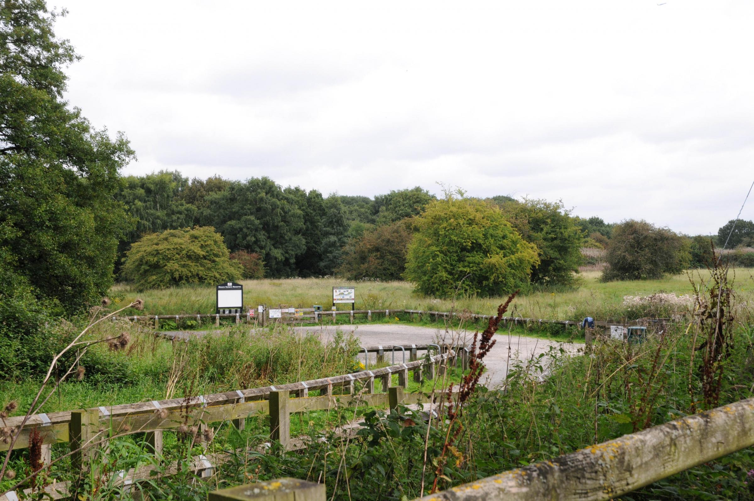 Land at Moore Nature Reserve has been proposed for development in the local plan 'preferred development option'