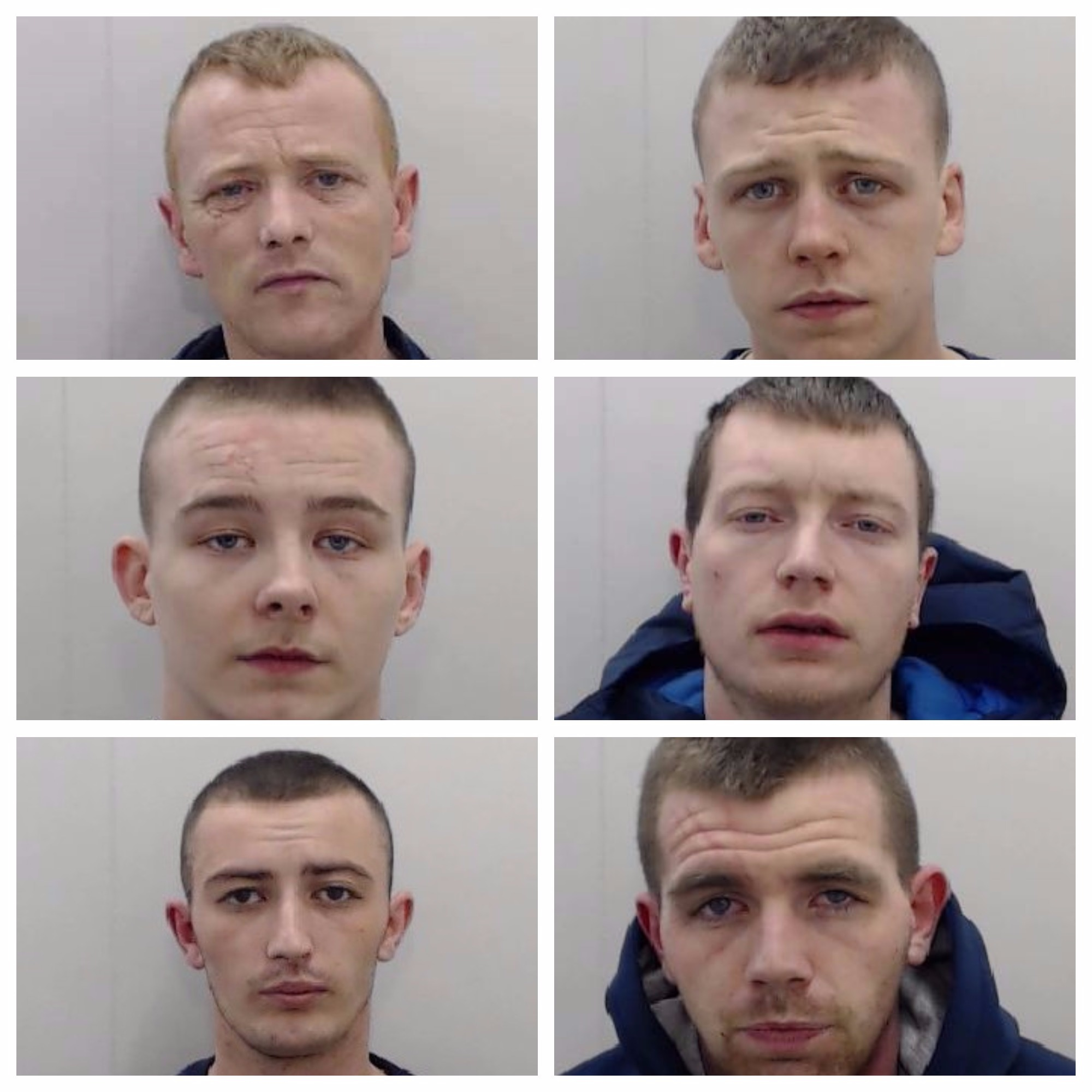 Members of crime gang jailed for spate of robberies and burglaries after posting photo of stolen car on Facebook