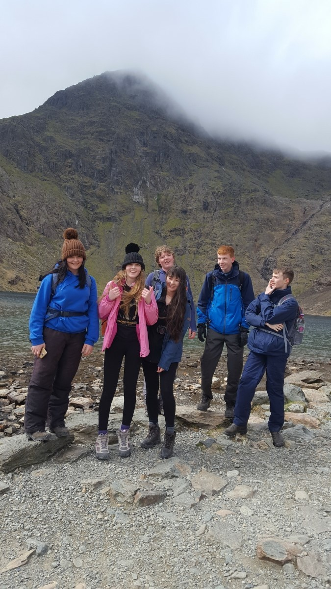 The cadets have been hiking in Snowdonia in preparation for their journey