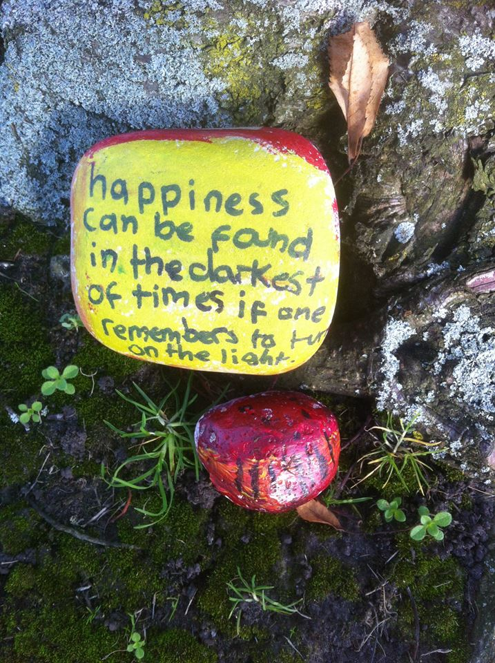 Mum on a mission to spread happiness across the town with Pebbleart craze