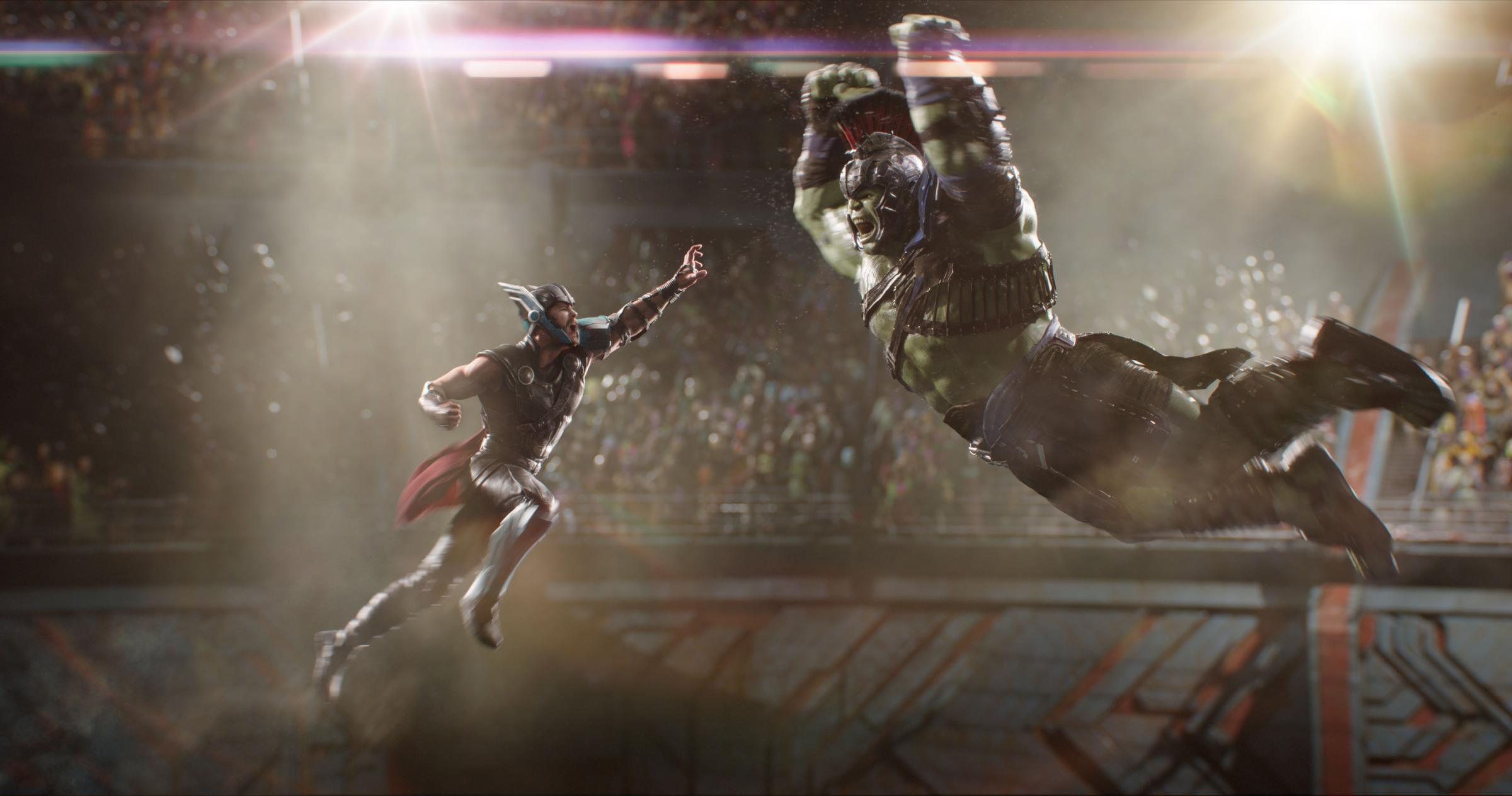Thor squares off against 'a friend from work'