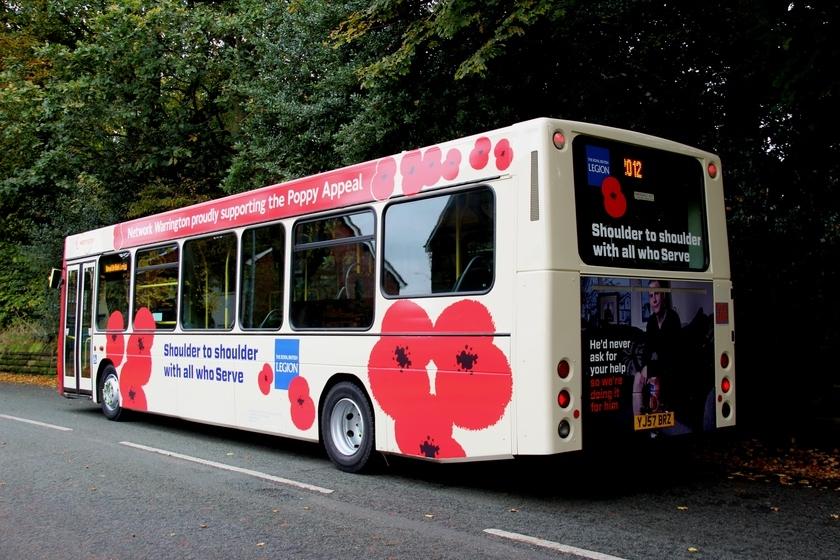 Network Warrington's poppy bus