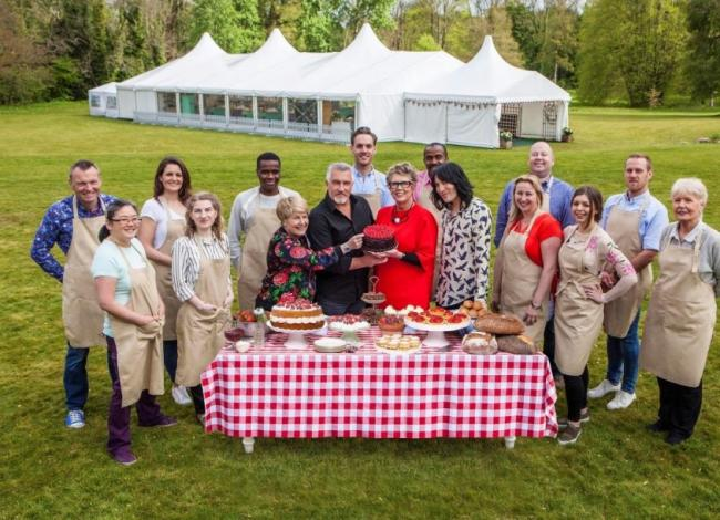 Contestants and judges from this year's GBBO. Pic: Love Productions
