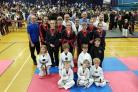 Competitors at the Matt Fiddes Martial Arts Schools International Championships in Swindon