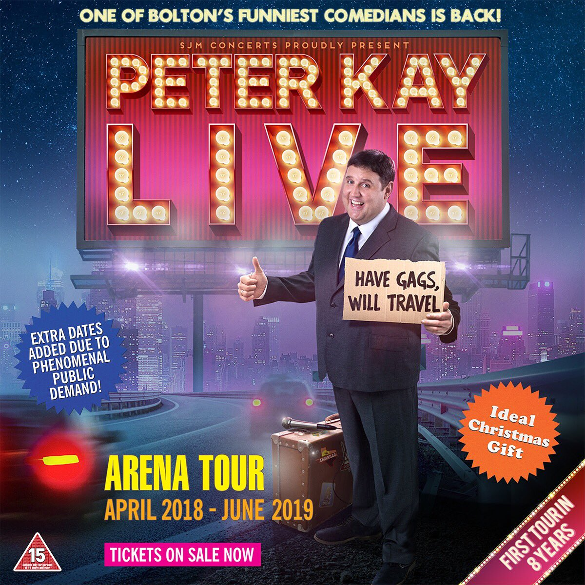 Peter Kay cancels whole of 2018 and 2019 tour