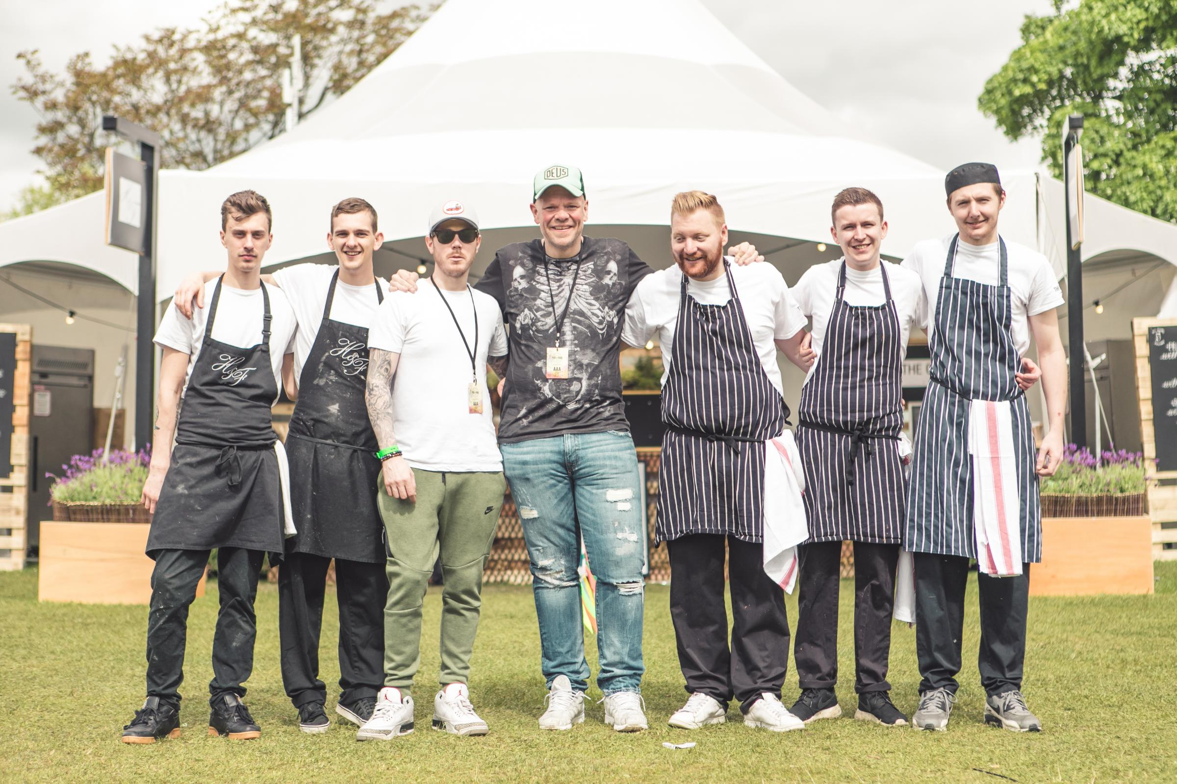 Tom Kerridge with his team